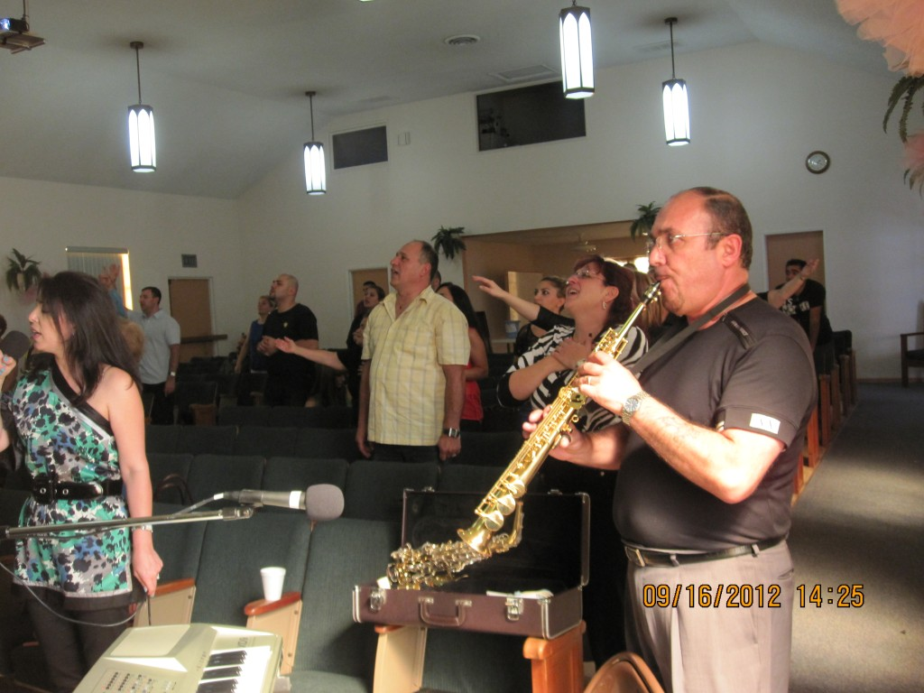 Brother Gigo Playing The Trumpet