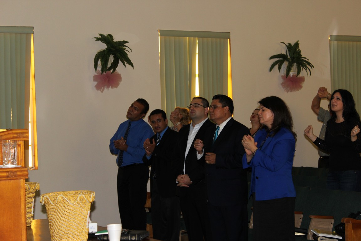 Guest Hispanic Group Praising The Lord!