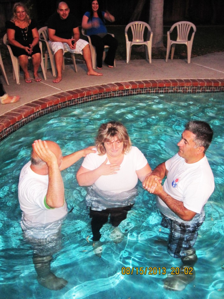 Sister in Christ getting Baptised