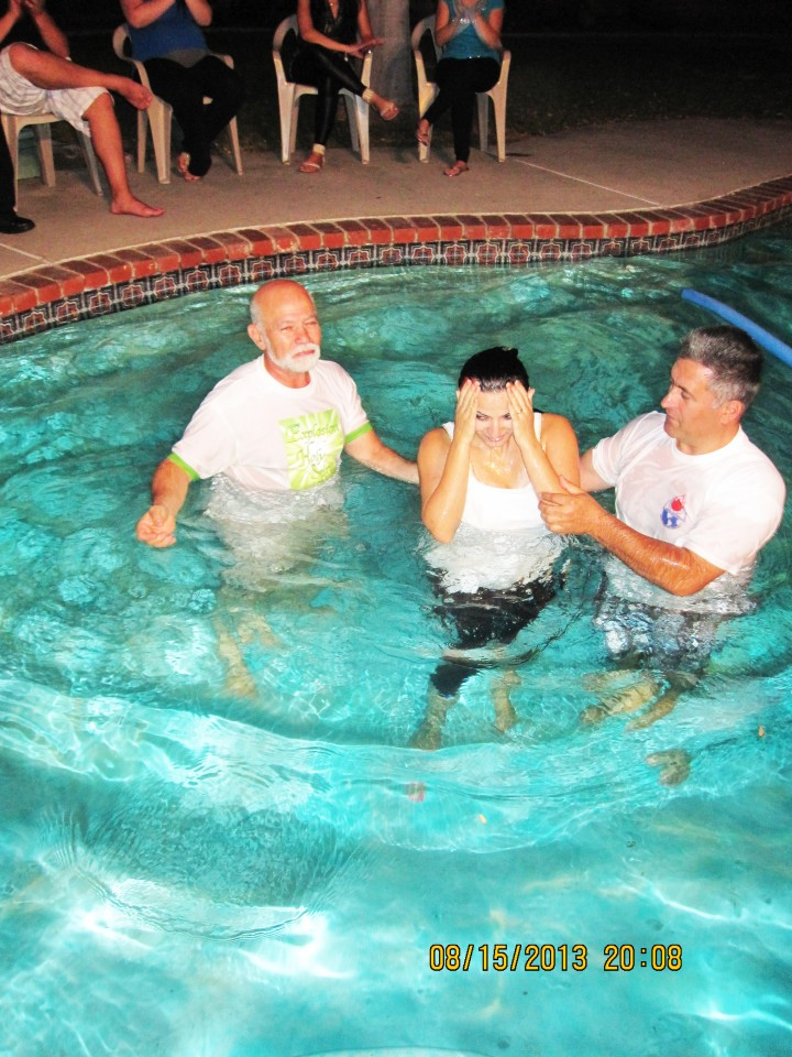 Sister in Christ being Baptised